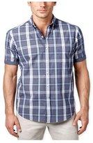 Club Room Mens Plaid Pocket Button Up Shirt L