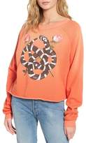 Wildfox Couture Women's Snake Charmer Monte Crop Sweatshirt