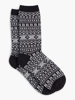 Talbots Holiday Fair Isle Socks