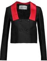 Valentino Cropped Wool And Silk-Blend Blazer