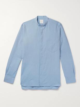 Paul Smith Slim-Fit Grandad-Collar Cotton And Linen-Blend Shirt