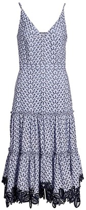 Derek Lam 10 Crosby Samara Eyelet Midi Dress