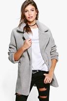 Boohoo Leah Oversized Teddy Fur Coat