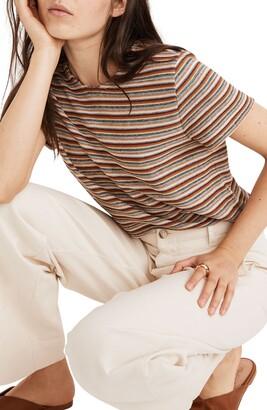 Madewell Rainbow Stripe Jacquard Shrunken T-Shirt