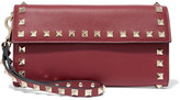 Valentino The Rockstud Leather Wallet - Burgundy