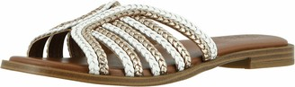 Naturalizer Womens Lane White Multi Slide Sandals 9.5 M