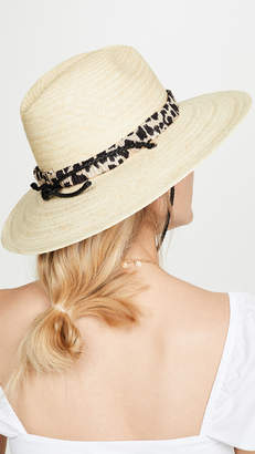 Loeffler Randall Straw Wide Brim Hat