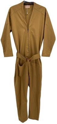 ALBUS LUMEN Brown Cotton Jumpsuits