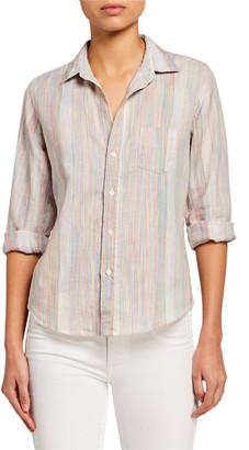 Frank And Eileen Barry Rainbow-Stripe Linen Shirt