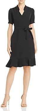 Nanette Lepore nanette Flounced Wrap-Style Dress