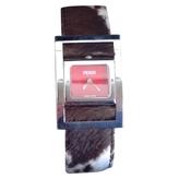 Fendi Brown Steel Watch