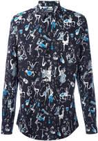 Dolce & Gabbana jazz print shirt