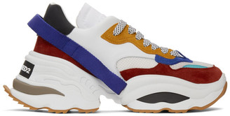 DSQUARED2 White and Multicolor The Giant Sneakers