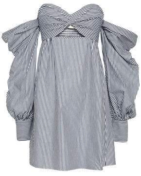 Petersyn Trista Off-the-shoulder Gingham Cotton Mini Dress