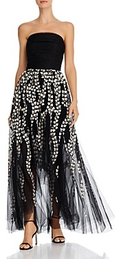 BCBGMAXAZRIA Strapless High/Low Gown
