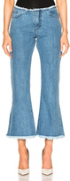 Marques Almeida Marques ' Almeida Capri Flare Jeans in Blue.