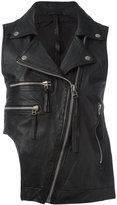 Barbara I Gongini sleeveless biker jacket - women - Sheep Skin/Shearling/Cotton - S