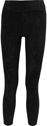 IRO Tadonis Cropped Stretch-suede Leggings
