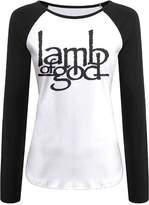 Zsqml Lamb Of God Band Logo Women's Contrast Long Sleeve T Shirt