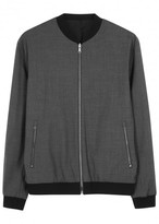 Vince Reversible Stretch Wool Bomber Jacket