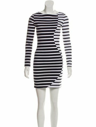 Band Of Outsiders Striped Long Sleeve Dress w/ Tags Black