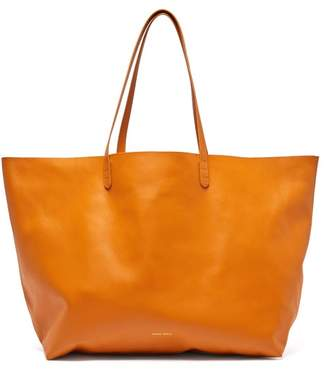 Mansur Gavriel Oversized Leather Tote Bag - Womens - Yellow Multi