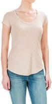Cynthia Rowley Pima Cotton-Modal V-Neck T-Shirt - Short Sleeve (For Women)