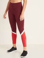 Old Navy High-Waisted Color-Blocked Side-Zip Elevate 7/8-Length Leggings For Women