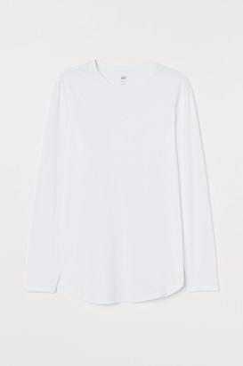 H&M Long-sleeved Shirt Long Fit