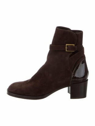 Chanel Vintage Suede Boots Brown
