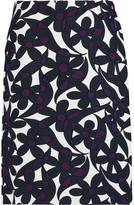 Marni Printed stretch wool-blend skirt