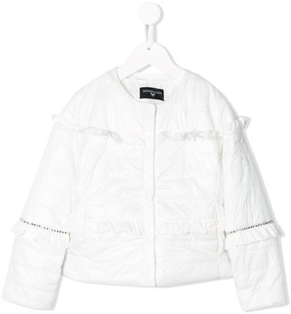 MonnaLisa Frill-Trim Padded Jacket