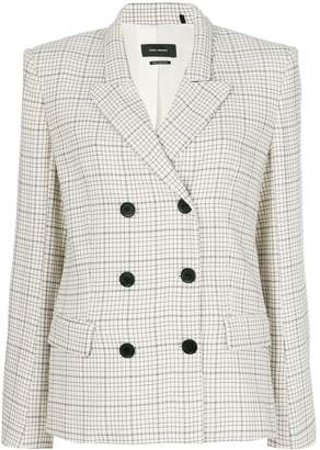 Isabel Marant checked double-breasted blazer