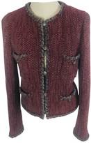 Chanel Burgundy Wool Jacket for Women