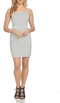 1 STATE 1.state Striped Sheath Dress