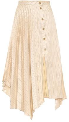 Acne Studios Striped high-rise skirt