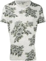 Majestic Filatures floral print T-shirt - men - Linen/Flax - S