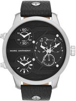 Marc Anthony Men's Leather Chronograph Watch
