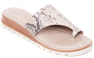 Bernardo Leather Slip-On Toe Ring Sandals - Jessi