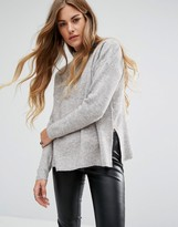 Noisy May High Neck Knit Sweater