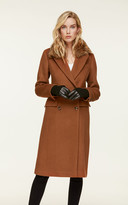 SoiakyoSoia & Kyo CARMEL leather and suede gloves with knit lining