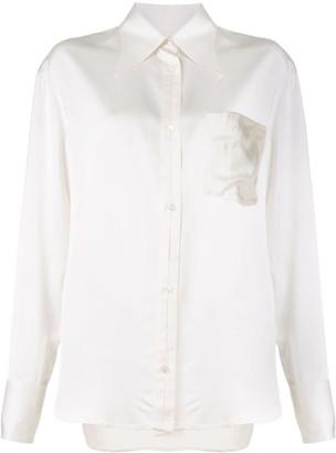 Deveaux Dawn long-sleeved satin shirt
