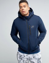 Nike Padded Hooded Jacket In Blue 810856-451