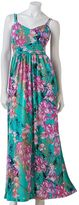 JLO by Jennifer Lopez floral empire maxi dress
