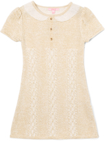 E-Land Kids Ivory Short-Sleeve Sweater Dress - Girls