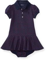 Ralph Lauren Girl Polka-Dot Polo Dress & Bloomer