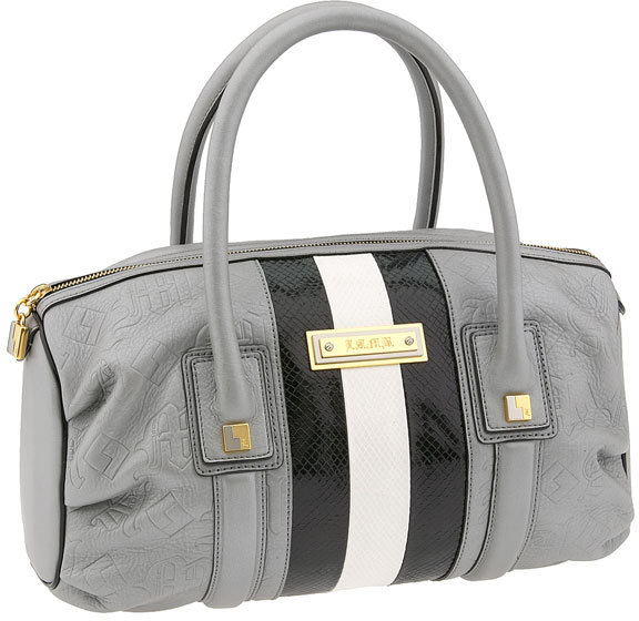 L.A.M.B. Embossed Pleated Satchel