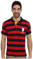 U.S. Polo Assn. Slim Fit Striped Cotton Interlock Polo