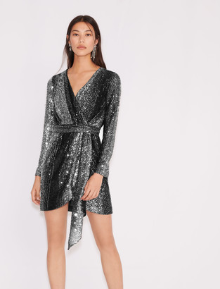 Maje Bicolour sequin dress