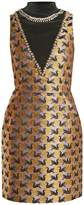 Mary Katrantzou Verdi swan-jacquard mini dress